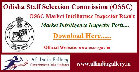 OSSC Market Intelligence Inspector Result
