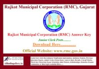 RMC Junior Clerk Answer Key