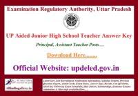 UP Aided Junior High School Teacher Answer Key