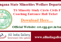 TS Minority Study Circle Civils Free Coaching Entrance Hall Ticket